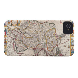 Map of Asia 4 iPhone 4 Case