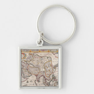 Map of Asia 4 Key Ring