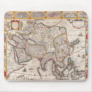 Map of Asia 4 Mouse Pad