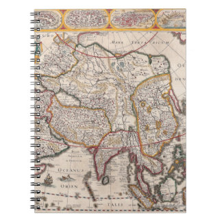 Map of Asia 4 Notebooks