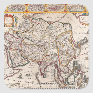 Map of Asia 4 Square Sticker