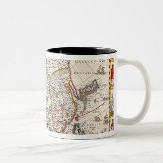Map of Asia 4 Two-Tone Coffee Mug