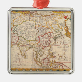 Map of Asia 5 Christmas Ornament