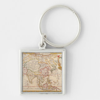 Map of Asia 5 Key Ring
