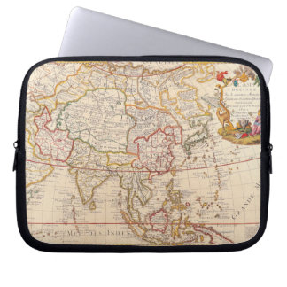 Map of Asia 5 Laptop Computer Sleeve