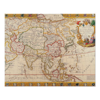 Map of Asia 5 Poster