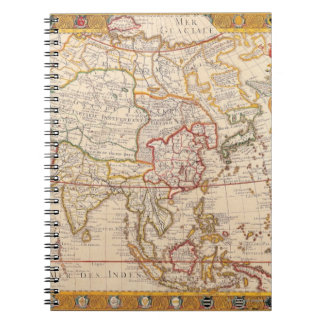 Map of Asia 5 Spiral Notebook
