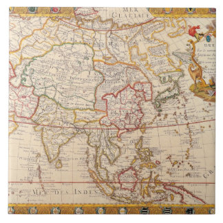 Map of Asia 5 Tile