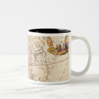 Map of Asia 5 Two-Tone Coffee Mug