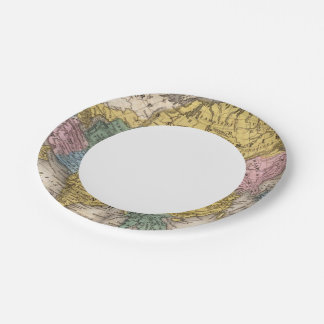 Map of Asia 7 Inch Paper Plate