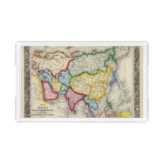 Map Of Asia Acrylic Tray