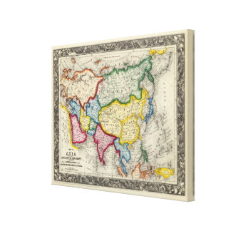 Map Of Asia Canvas Print