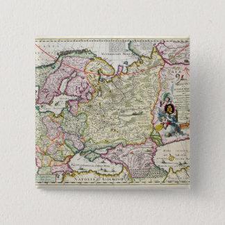 Map of Asia Minor 15 Cm Square Badge