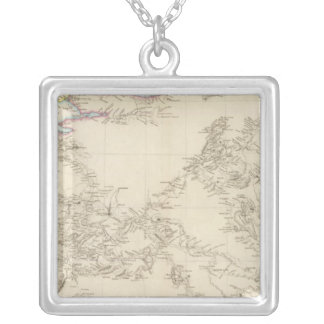 Map of Asia Minor Silver Plated Necklace