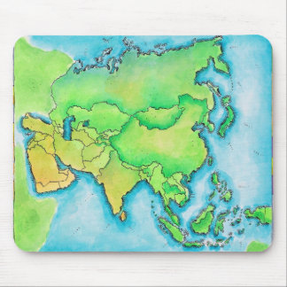 Map of Asia Mouse Mat