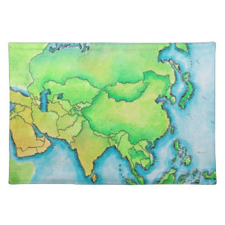 Map of Asia Placemat