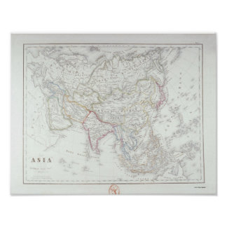 Map of Asia Poster