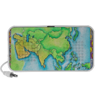 Map of Asia Laptop Speakers