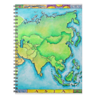 Map of Asia Spiral Notebook