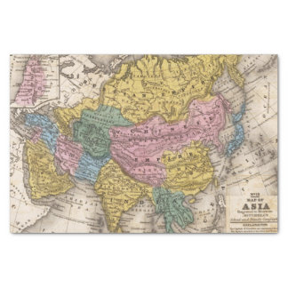 Map of Asia Tissue Paper