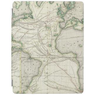 Map of Atlantic Ocean iPad Cover