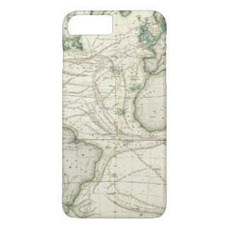 Map of Atlantic Ocean iPhone 8 Plus/7 Plus Case
