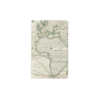 Map of Atlantic Ocean Pocket Moleskine Notebook