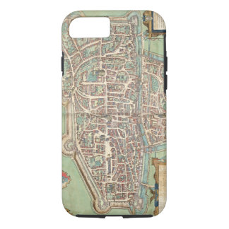Map of Augsburg, from 'Civitates Orbis Terrarum' b iPhone 8/7 Case