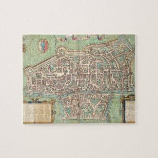 Map of Augsburg, from 'Civitates Orbis Terrarum' b Jigsaw Puzzle