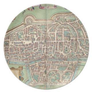 Map of Augsburg, from 'Civitates Orbis Terrarum' b Plate