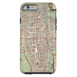 Map of Augsburg, from 'Civitates Orbis Terrarum' b Tough iPhone 6 Case