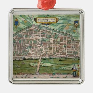 Map of Aurelia, from 'Civitates Orbis Terrarum' by Christmas Ornament
