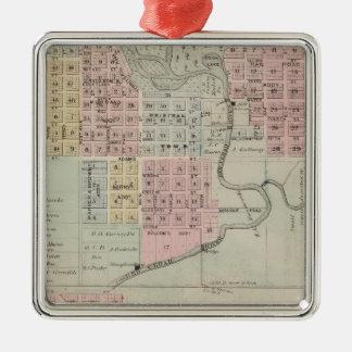 Map of Austin, Mower County, Minnesota Christmas Ornament