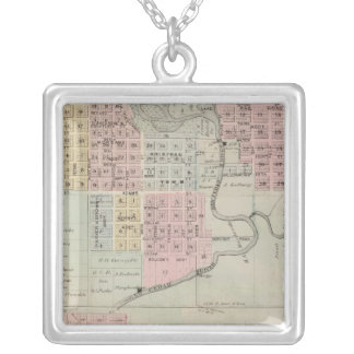 Map of Austin, Mower County, Minnesota Silver Plated Necklace