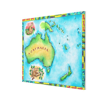 Map of Australia 2 Canvas Print
