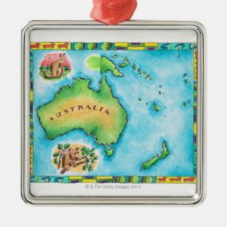 Map of Australia 2 Christmas Ornament