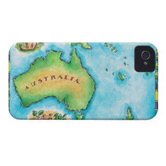 Map of Australia 2 iPhone 4 Case-Mate Case