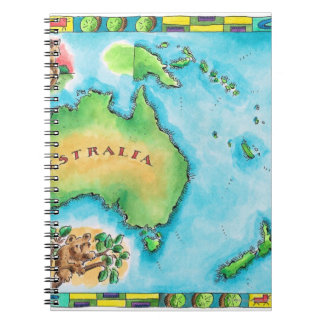 Map of Australia 2 Spiral Notebooks