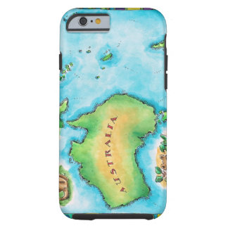 Map of Australia 2 Tough iPhone 6 Case