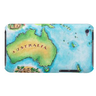 Map of Australia Barely There iPod Cases