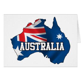 Map Of Australia Card