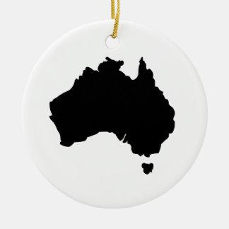 Map of Australia Christmas Ornament