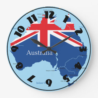 Map Of Australia Clock