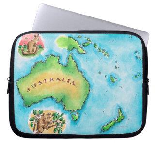 Map of Australia Laptop Sleeve