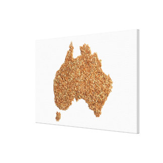 Map of Australia made of Glutinous Rice Canvas Print