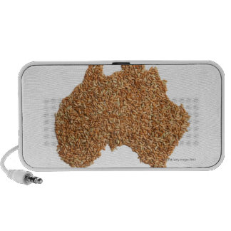 Map of Australia made of Glutinous Rice Notebook Speakers