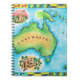 Map of Australia Notebooks