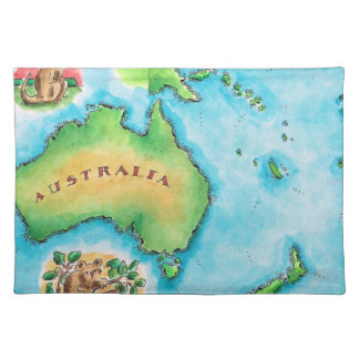 Map of Australia Placemat