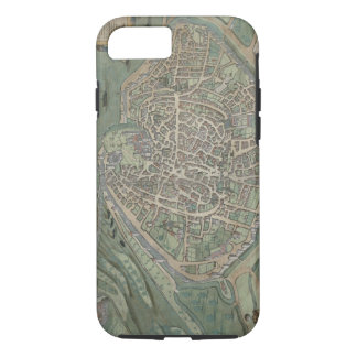 Map of Avignon, from 'Civitates Orbis Terrarum' by iPhone 8/7 Case