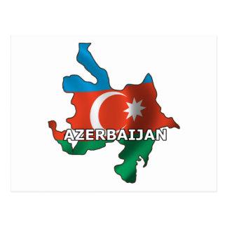 Map of Azerbaijan Postcard
